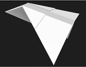 Paper Airplane 3D asset