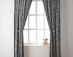 Curtain 117 Teddy bear 3D model