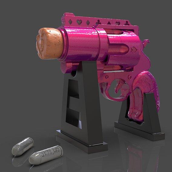 Harley Quinn Handgun 3D Print