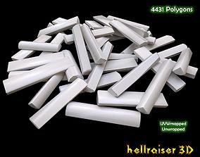 3D model low-poly Logs Chopped
