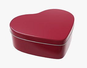 3D Metal tin can heart shaped