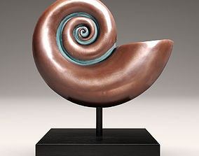 3D shell nautilus