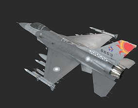 USA AIR FORCE F-16 Fighting Falcon Fighter USAF 3D asset 1
