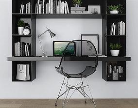 3D model VR / AR ready Workplace set