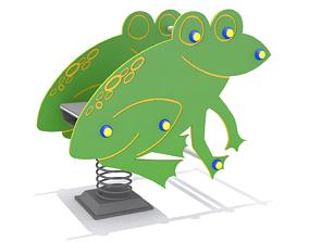 3D asset Playground - Frog Rider