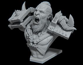 Orc bust - 3d print ready