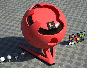 Red Plastic - VRay shader 3D asset