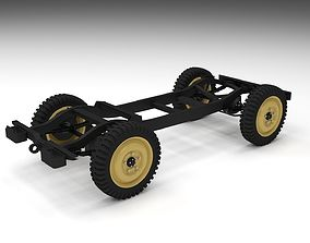 Jeep Willys Chassis 3D asset