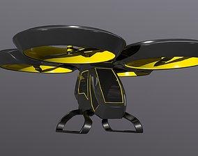 airliner Car Drone 3D asset