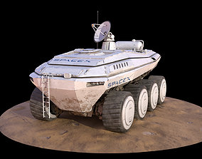 3D model game-ready SpaceX Mars Rover