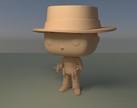 Custom Pop Cowboy Figure 3D Print male