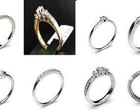 8 Latest Solitaire Woman Diamond Ring 3D print model