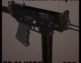 Russian weapon PP 91 KEDR 3D asset