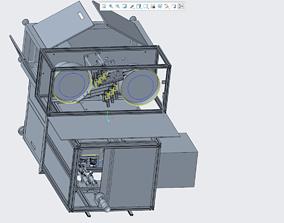 3D print model Semi-finished lock screw machine 6 axes