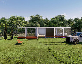 Cubic Glass House 3D