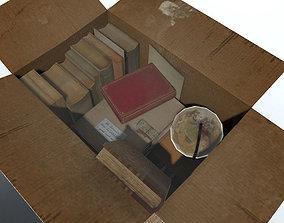 details 3D asset Cardboard box