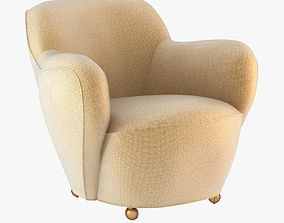 VLADIMIR KAGAN Barrel club chair 3D model