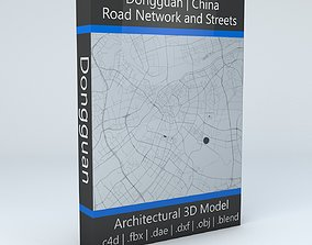 3D model Dongguan Road Network and Streets