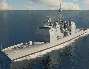 Ticonderoga-class cruiser 3D model