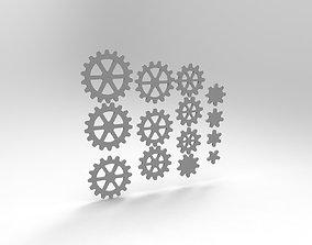 3D print model mechanical-parts gears