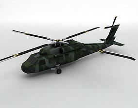 UH 60 Blackhawk Helicopter -1 3D model