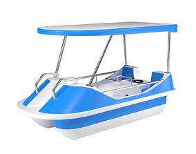 Pedal boat 3D model VR / AR ready PBR