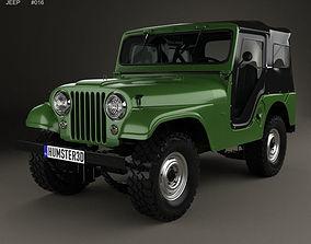 Jeep CJ-5 1954 3D