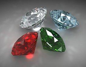 jewelry 3D asset realtime Diamond