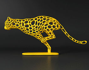 3D print model Cheetah Voronoi Wireframe