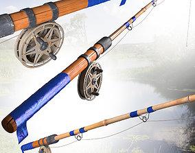 fishing rod boat 3D model