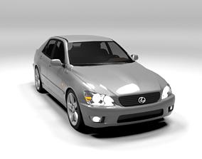 3D model LEXUS IS 200 LOWPOLY