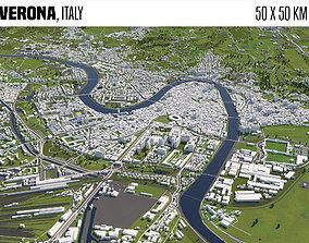 3D model europe Verona Italy