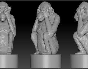 monkey2 figure 3D print model