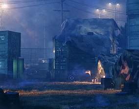 3D model Military Base - Blender Full Scene