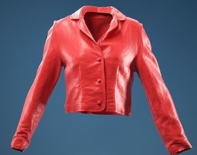 Mini Jacket Red Decoration outfit 3D model