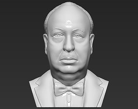 Alfred Hitchcock bust 3D printing ready stl obj