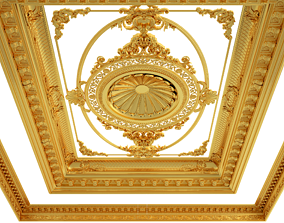 Classical wooden ceiling carved cnc 2020 3D model