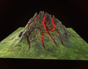 3D asset Fantasy mountain model for real time rendering