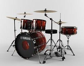 3D Yamaha drum set