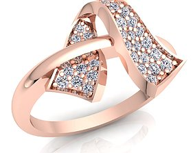 Woman Diamond Ring rings car 3D printable model