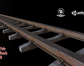 3D model low-poly Old Railway Track