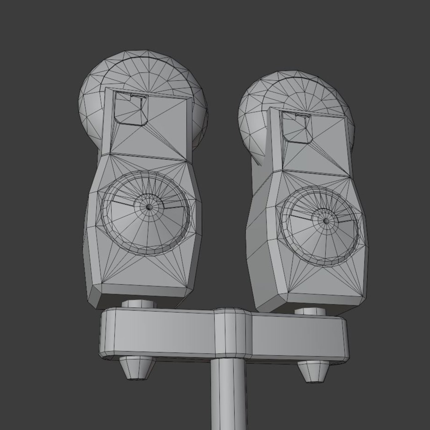 Parking Meter x 2 Low-poly Version