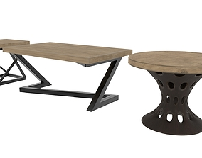 three type of table 3D
