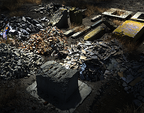 game-ready 8k Rubble 21 assets pack - Cinematic LOD - 32 2