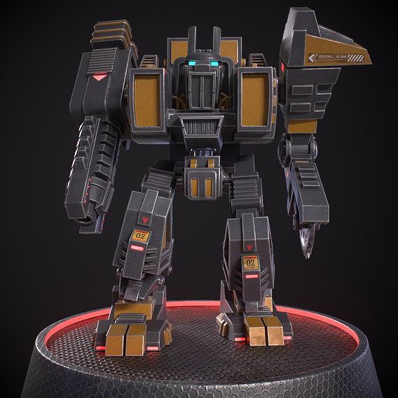 Robot gameready , rigged