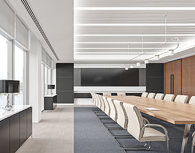 animated Financial company meeting room 3D