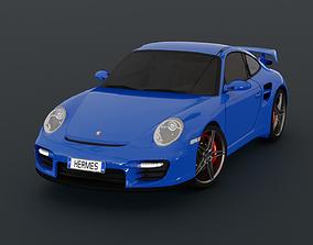 PORSCHE 911 997 GT2 3D asset