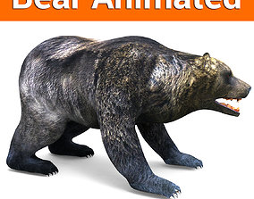 animated 3D Model Black Bear Rigged and animated