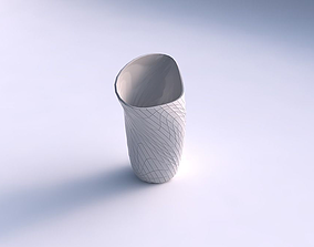 3D print model Vase vortex with wavy grid plates