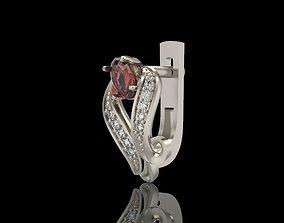 Earrings with gems 3D printable model